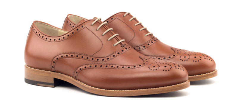 Oxford-full brogue cognac Cambrillon