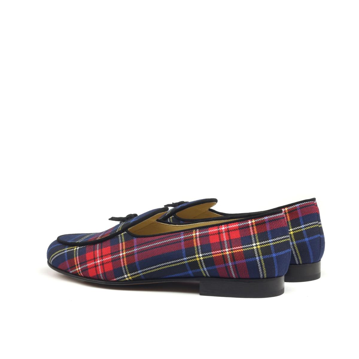 Belgian Slippers in tartan