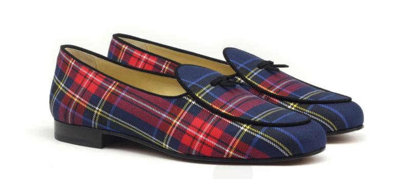 Belgian Slippers tartan