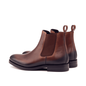 Brown boxcalf chelsea boot
