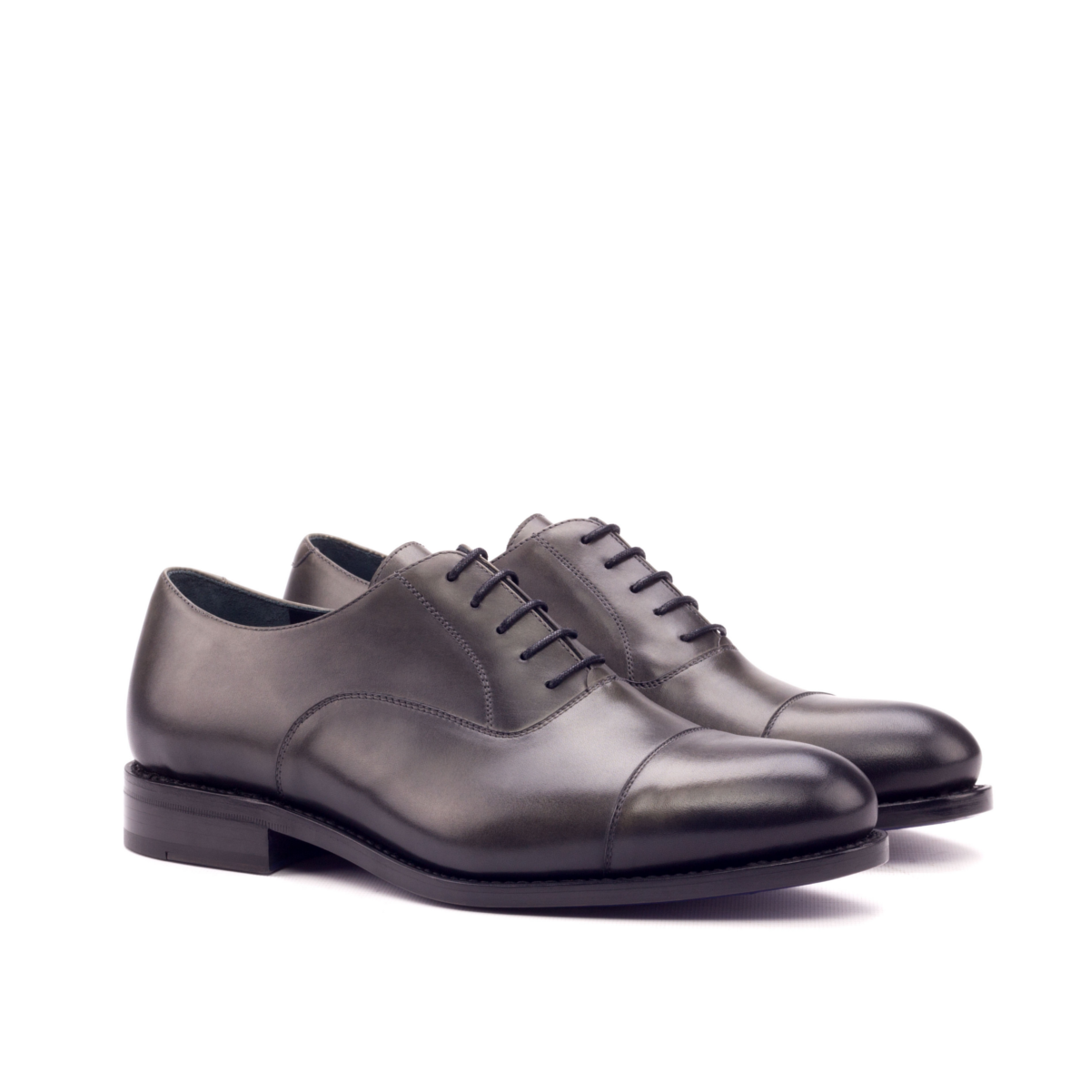 Grey hand-brushed Oxford