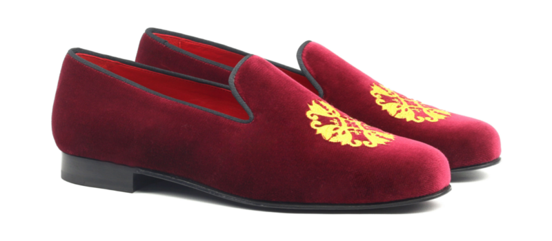Wellingtong burgundy velvet