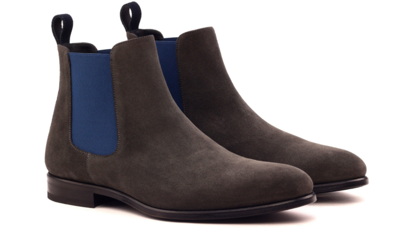 bespoke chelsea boot in suede cambrillon
