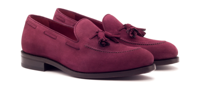 loafer suede wine