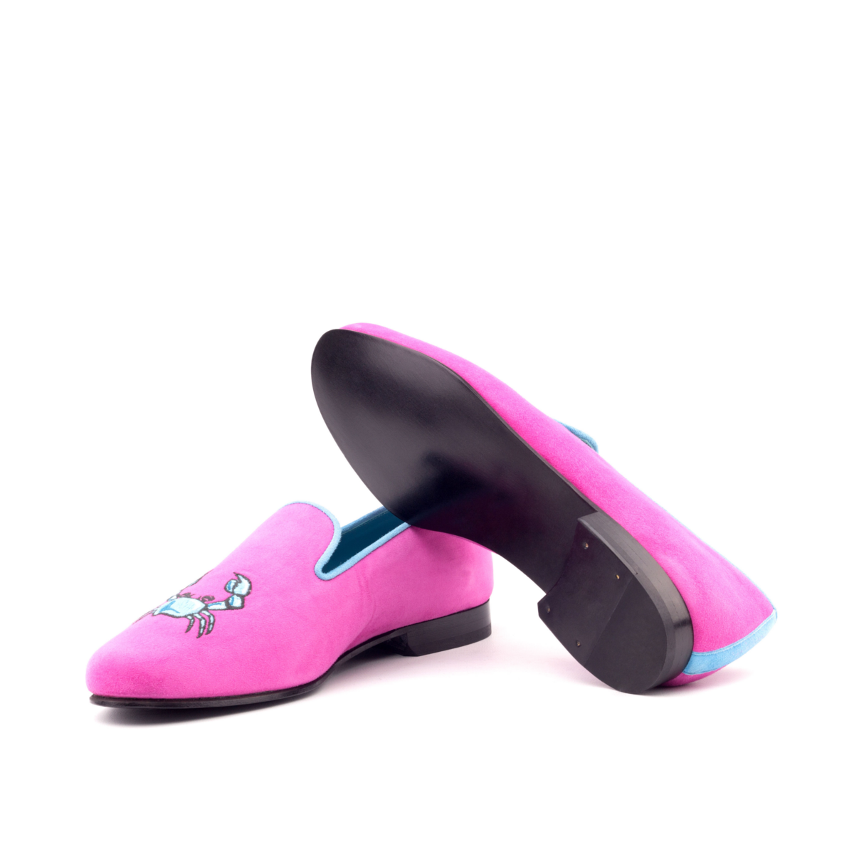 5890f40cc84c80 Fuschia suede Slipper - Cambrillón Bespoke Leather