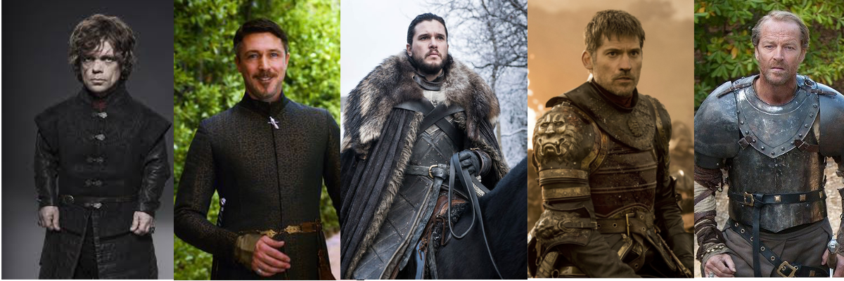 The shoes that the characters of Game of Thrones use, according to their personality