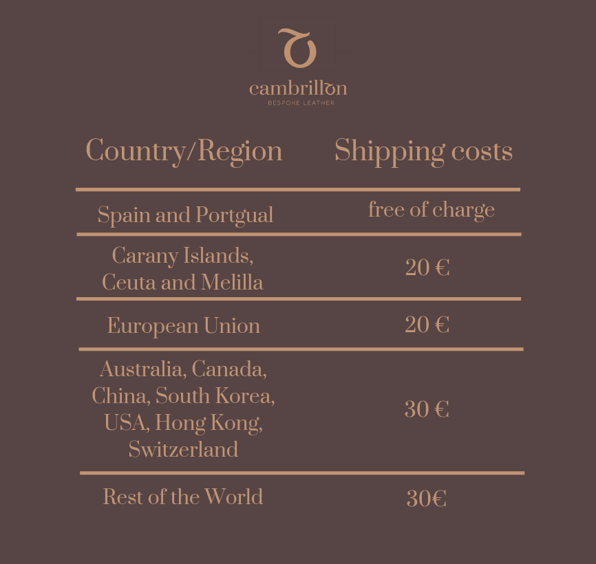 shipping costs - Cambrillon-updated