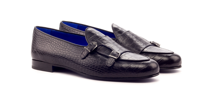 Monk slipper box calf negro