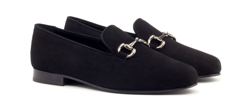 Gucci Loafer ante negro Cambrillon