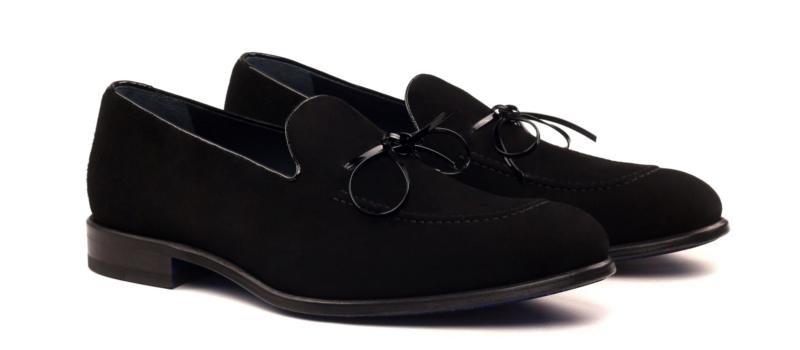 Loafer en ante negro para hombre Cambrillón