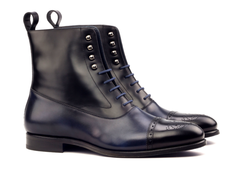 balmoral boot navy blue