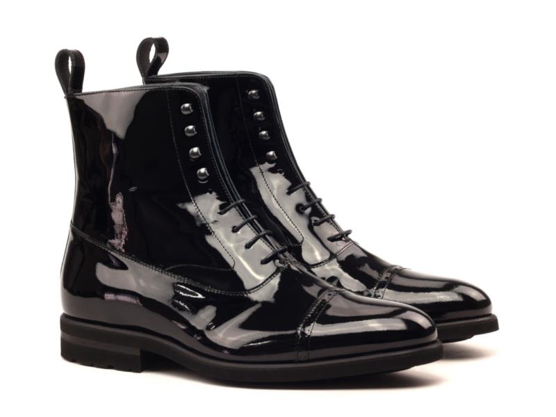 balmoral boot patent leather Cambrillon