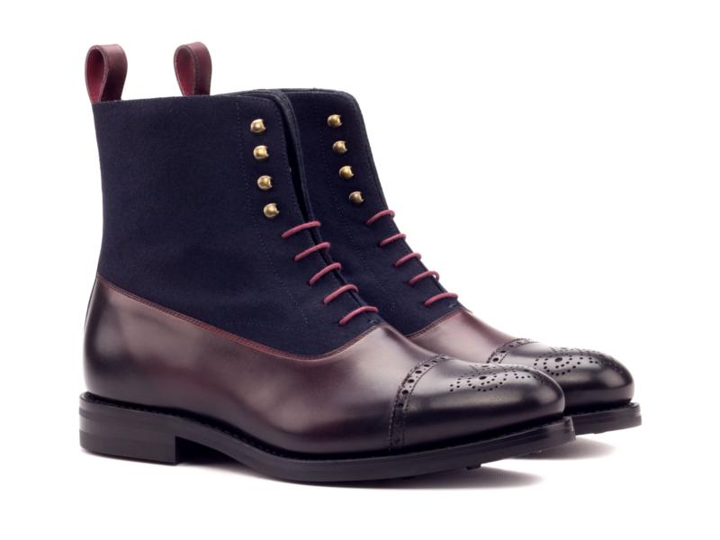 balmoral boot suede and box calf Cambrillon