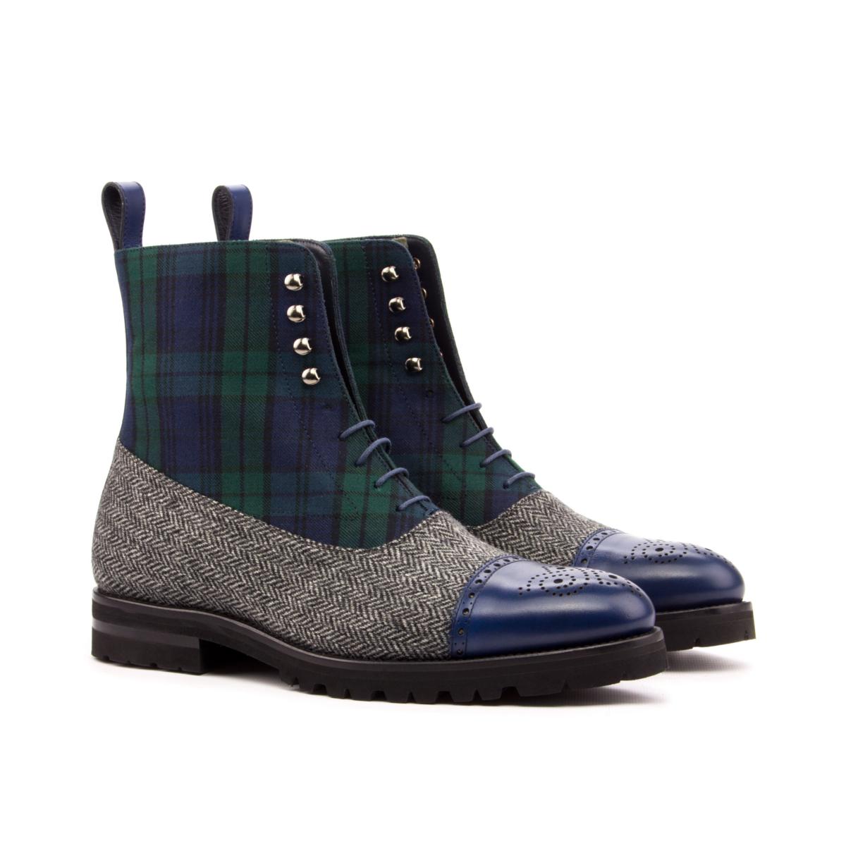 Herringbone and Blackwatch Balmoral boot