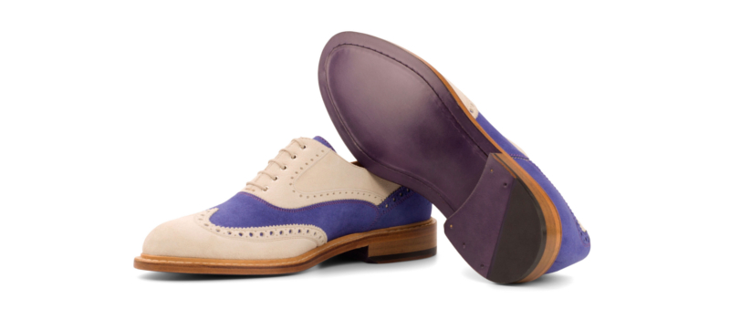 Bespoke Full Brogue Oxford shoes in suede for women Cambrillon 2