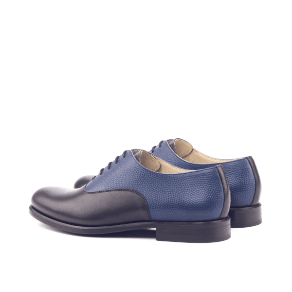 Bespoke Black and blue Saddle Oxford shoes for women Cambrillon