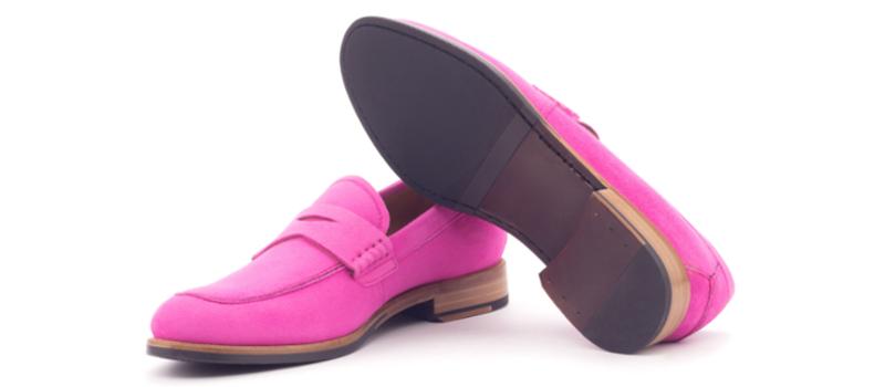 loafer ante fucsia personalizado para mujer cambrillon
