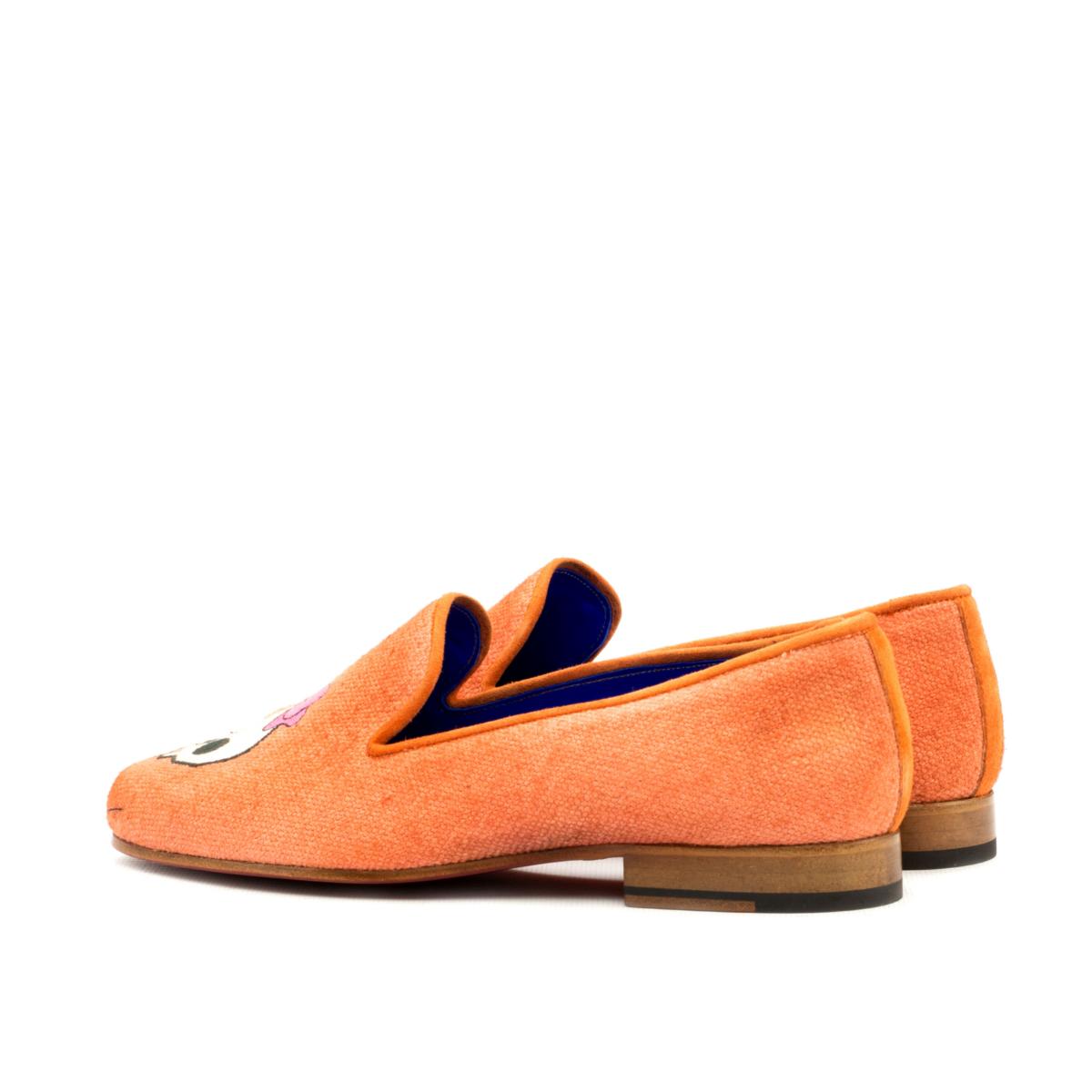 Orange linen women's Slippers