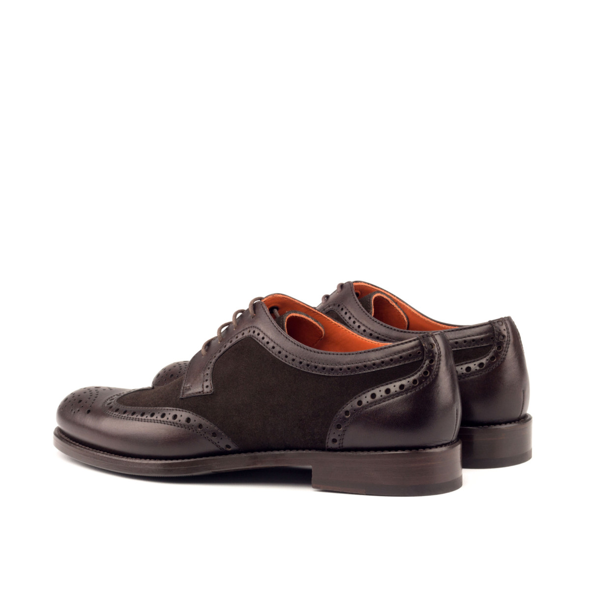 Boxcalf and suede women's derby shoes