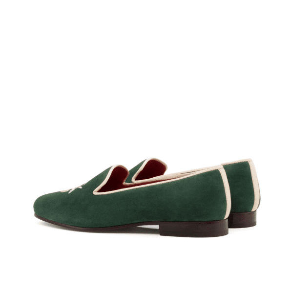 Bespoke Green suede slippers for women Cambrillon
