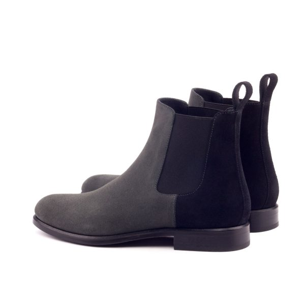Women Chelsea Boot - Lux Suede Black And Grey