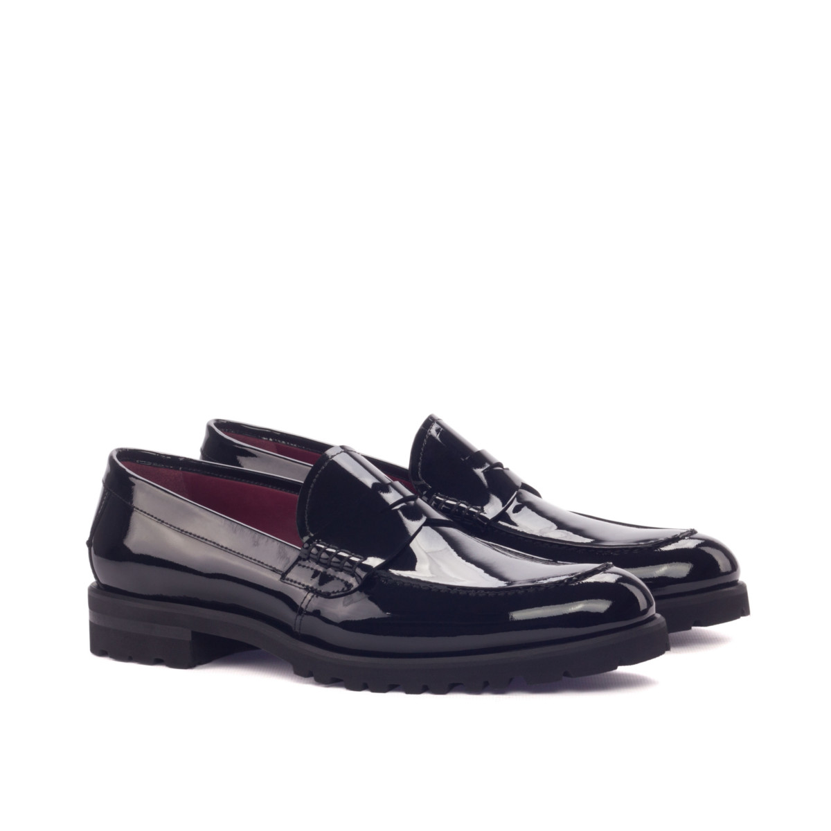 Women Loafer - Patent Black