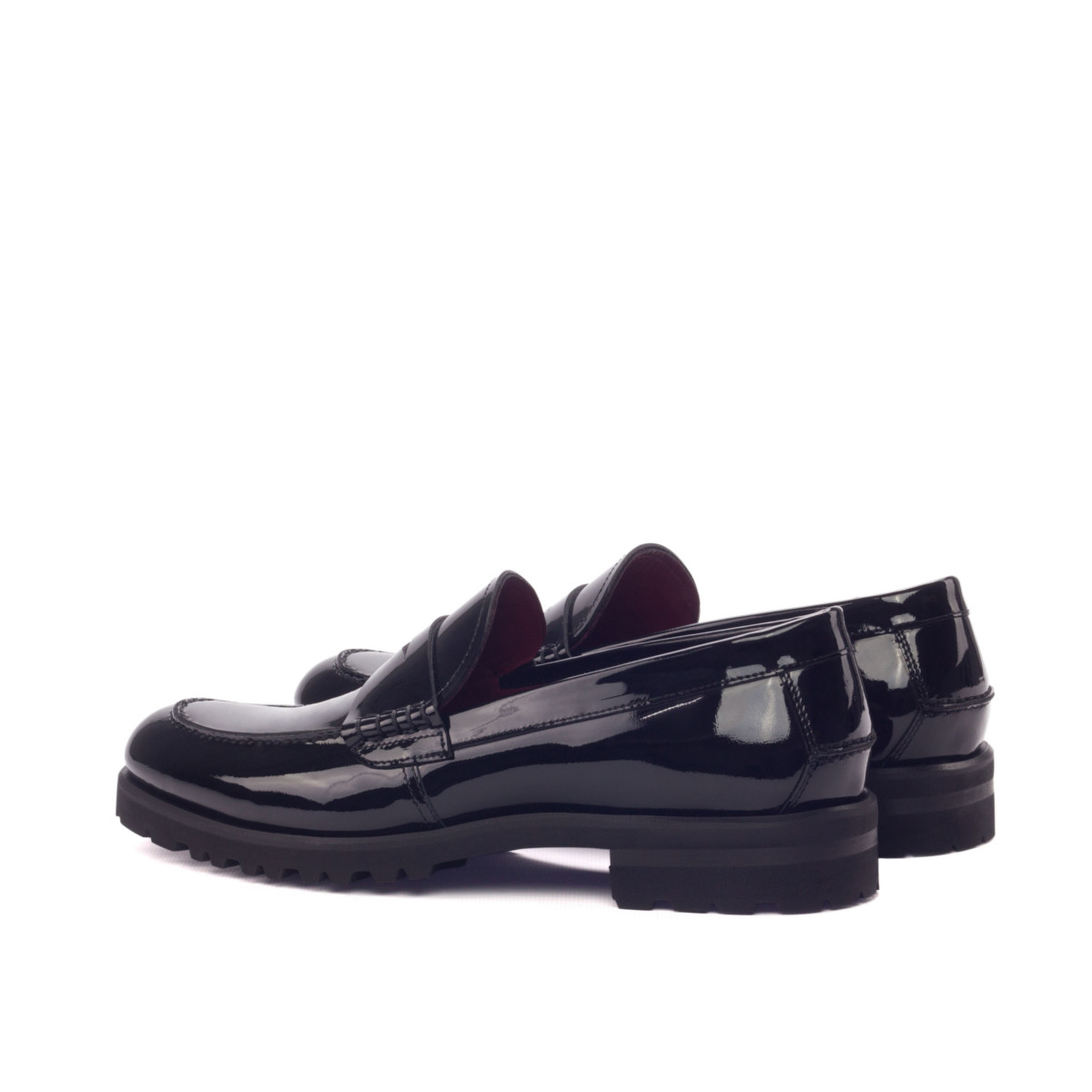 Black patent women's loafers