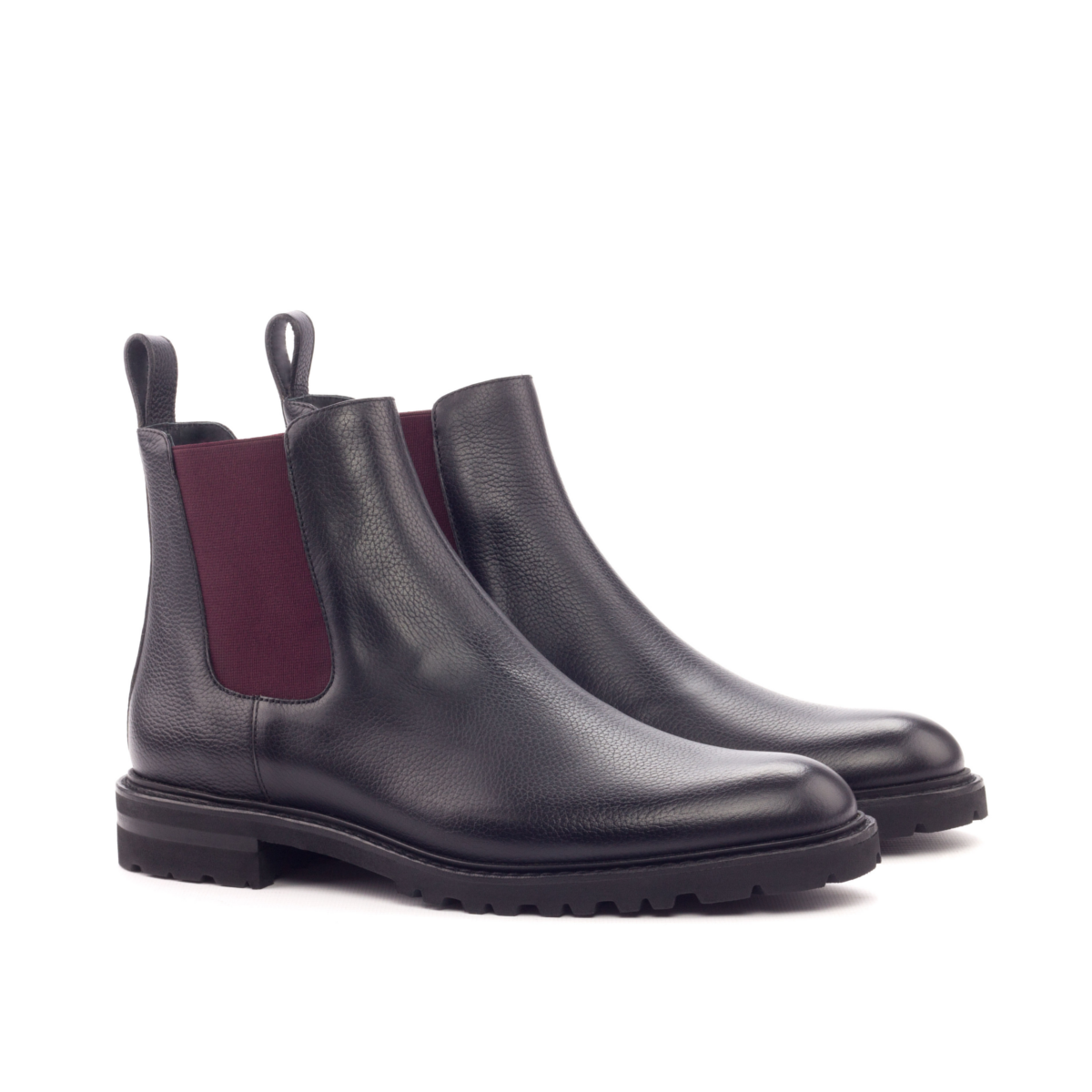 Women Chelsea Boot Painted Full Grain Black