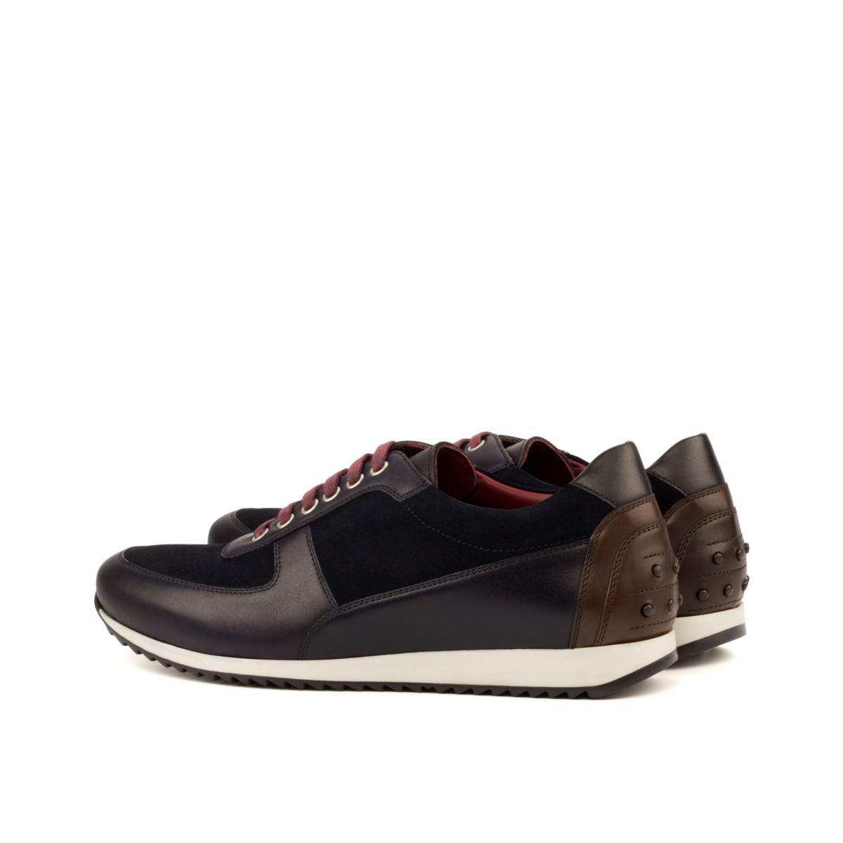 LEO boxcalf and suede corsini sneakers