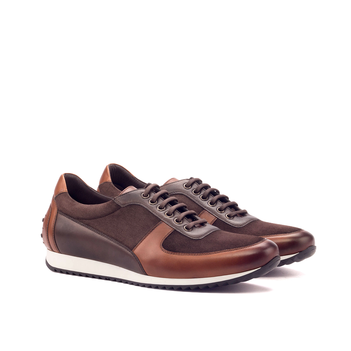 LEO Brown hand painted corsini sneakers