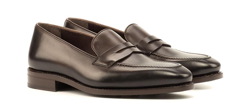 Loafer Mask Goodyear Welted - Dark Burnishing - Painted Calf Dark Brown