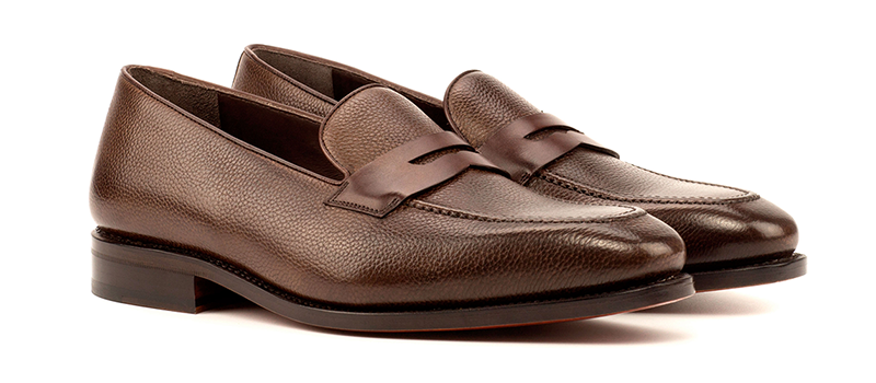 Loafer Mask Goodyear Welted - Painted Full Grain Dark Brown-Box Calf Dark Brown