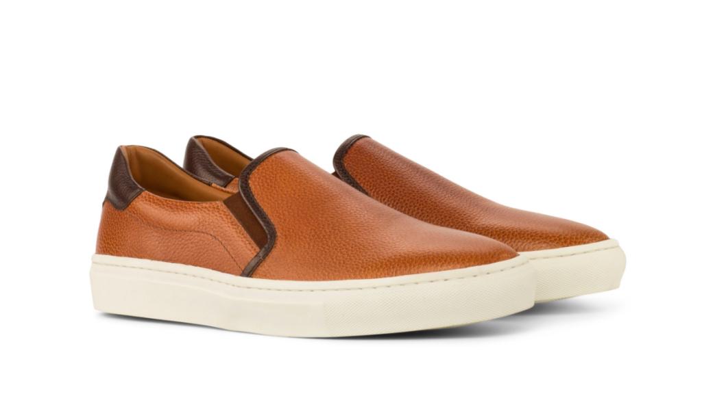 Slip On Sneaker - Painted Full Grain Cognac-Painted Full Grain Dark Brown