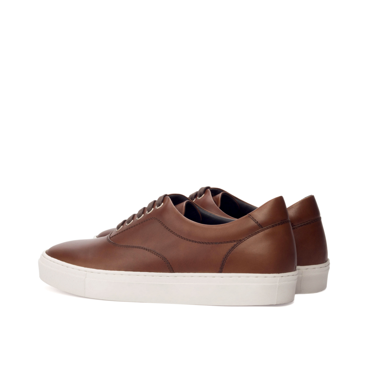 Brown boxcalf top sider sneakers