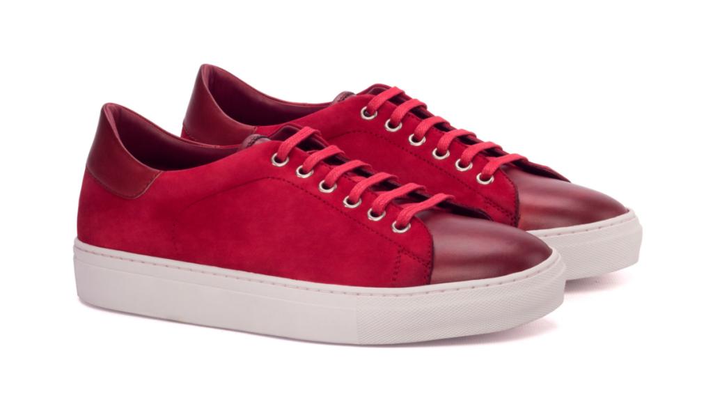 rainer Sneaker - Painted Calf Red