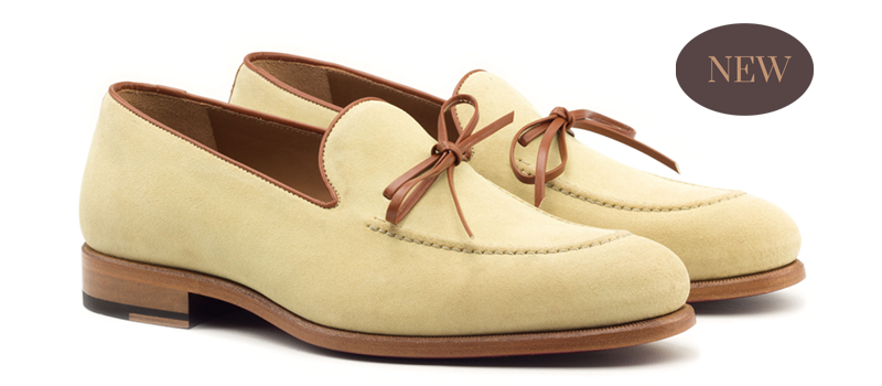 Loafer Mask - Flannel Navy-Painted Calf Med Brown