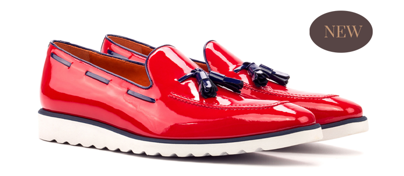 Loafer - Patent Red-Patent Cobalt Blue