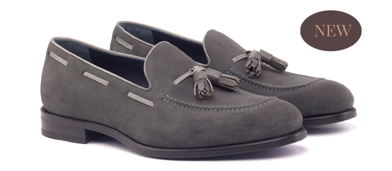 Loafer Tassels - Lux Suede Grey-Painted Calf Grey