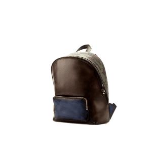 Men's bespoke backpack in hand painted dark brown boxcalf BURTON