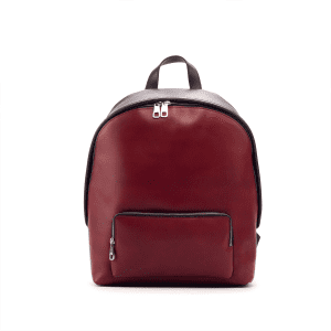 Men's bespoke backpack in boxcalf red and black BURTON