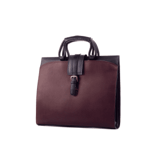 Men's bespoke briefcase painted calf burgundy GAMA