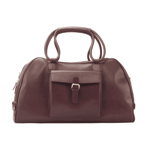 Men's bespoke travel duffle in boxcalf burgundy COOK