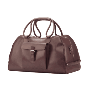 Men's bespoke travel duffle in boxcalf burgundy COOK