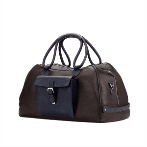 Men's bespoke travel duffle in boxcalf brown COOK