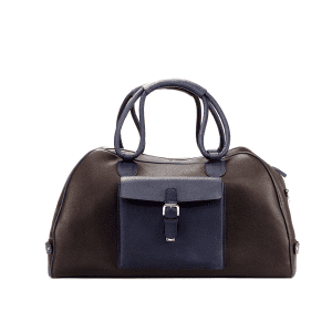 Men's bespoke travel duffle in boxcalf brown COOK