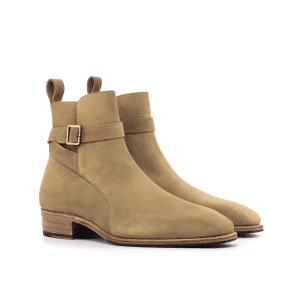 Jodhpur boot for men in camel suede