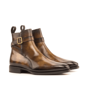 Jodhpur boots for men in cognac patina
