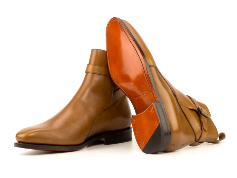 Bespoke Jodhpur boot for men in cognac box calf CAMBRILLON 2021