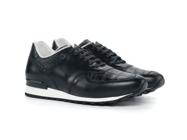 Jogger Sneaker for men in black box calf Cambrillon-1