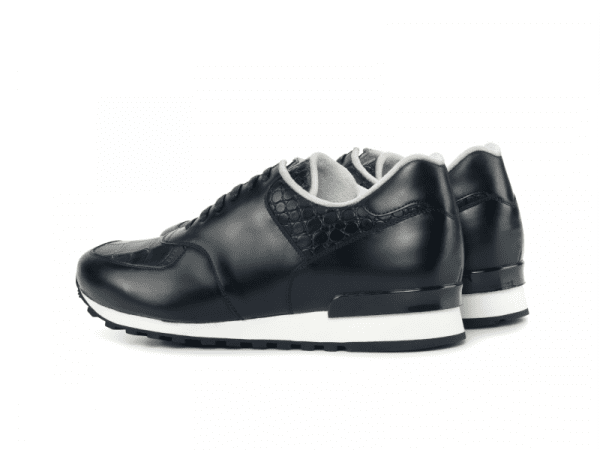 Jogger Sneaker for men in black box calf Cambrillon-2